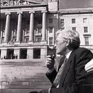 Seamus Mallon outside Stormont. Pacemaker