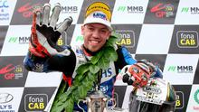 Fab five: Peter Hickman hails his five victories at the Ulster Grand Prix on Saturday, equalling 1996