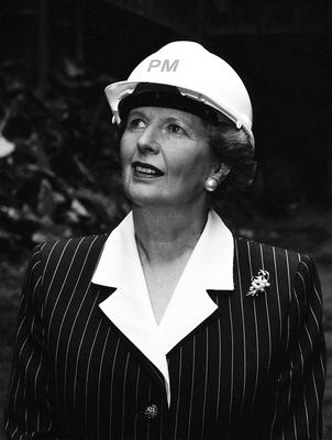 Library filer dated 8/6/1988 of Margaret Thatcher standing in the shell of London's old Battersea power station, when she renamed the site 'The Battersea'. PRESS ASSOCIATION Photo. Issue date: Monday April 8, 2013. Baroness Thatcher died this morning following a stroke, her spokesman Lord Bell said. See PA story DEATH Thatcher. Photo credit should read: PA/PA Wire