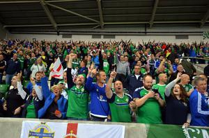 PACEMAKER BELFAST  08/10/2016 Northern Ireland v San Marino World Cup qualifier Group C The official opening of the National Stadium this evening  Photo Colm Lenaghan/Pacemaker Press