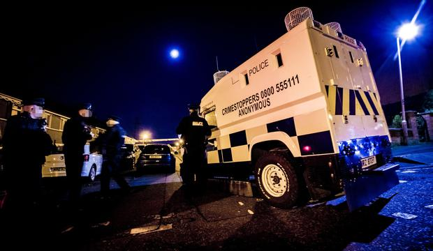 Police at the scene of an incident in the Norglen Parade area of west Belfast on November 7th 2019 (Photo by Kevin Scott for Belfast Telegraph)
