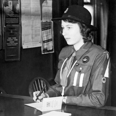 File photo dated 01/01/1942 of Princess Elizabeth (now Queen Elizabeth II) in her Girl Guide uniform as the Queen turns 90 on the April 21st. PRESS ASSOCIATION Photo. Issue date: Sunday April 3, 2016. See PA story ROYAL Birthday. Photo credit should read: PA Wire