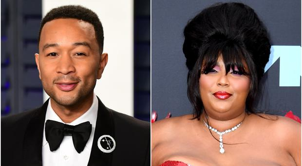 John Legend and Lizzo were among the celebrities to react to Donald Trump's impeachment (Ian West/PA)