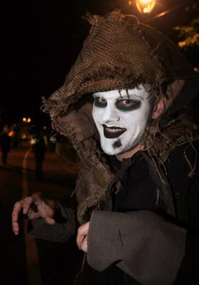 Thousands of Halloween night revellers enjoy a Twilight Night by Fairy Light at Wallace Park, Lisburn.