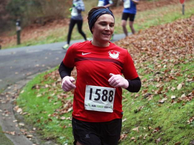 Mandatory Credit - Picture by Freddie Parkinson/Press Eye © Saturday 3rd December 2016 Belfast Telegraph Run Forest Run Loughgall. Loughgall Country Park, 11-14 Main Street, Loughgall, Armagh.  Caroline Wade 10K Newry