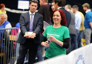 Clare Bailey, Green Party pictured at the election count at Titanic Exhibition Centre Belfast for Belfast South, Belfast West, Belfast East and Belfast North. Photo by Kelvin Boyes / Press Eye.