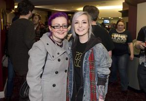 "Pacemaker press 16/12/2015 Hundreds of Star Wars fans queue outside the Movie House on the Dublin road in order to see the latest  film "" The Force Awakens"". Pictured are Emma Graham and Fiona Butler. Picture Mark Marlow/pacemaker press"