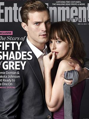 Jamie Dornan as Christian Grey and Dakota Johnson as Anastasia Steele in the first cast photos from the Fifty Shades of Grey movie