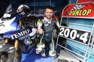 PACEMAKER, BELFAST, 10/8/2017: The 200mph man! William Dunlop broke through the 200mph speed barrier along the Flying Kilo's speed trap for the first time during practice at the Ulster Grand Prix today on his Temple Golf Club Yamaha. PICTURE BY STEPHEN DAVISON