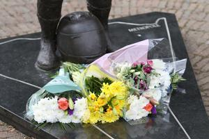 Flowers at the Dunlop memorial garden after the death of William Dunlop in Skeries 100. Pic by Peter Morrison
