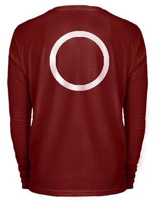 Computer generated image of the distinctive burgundy long sleeve top worn by a man that detectives investigating the disappearance of Madeleine McCann are looking for