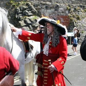 Royal Landing at Carrickfergus Castle. The arrival of King William of Orange at Carrickfergus ahead of his famous battle with King James at the Boyne.