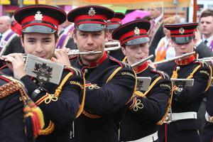 Fluteing away for Fife and Drum at Coleraine Twelfth.PICTURE MARK JAMIESON.