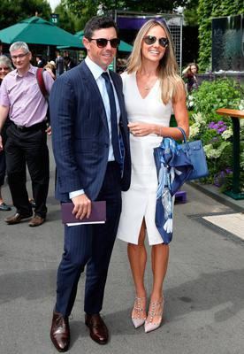 Rory and Erica McIlroy at Wimbledon