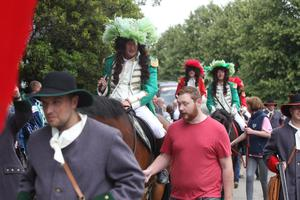 13/07/17 PACEMAKER PRESS King William defeats King James at the festivities at Scarva.  PICTURE MATT BOHILL PACEMAKER PRESS