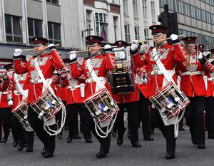 The Orange Parade in Belfast City Centre on Tuesday , as the 12th of July celebrations take part across Northern Ireland, to commemorate the Battle of Boyne, which occurred on Ireland's east coast in 1690. Pic Colm Lenaghan/Pacemaker