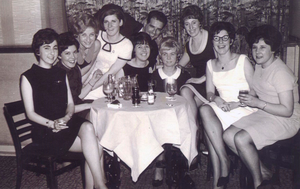 June (third from left) was one of just 10 women who were recruited to work in M&S' first store in Northern Ireland in 1967