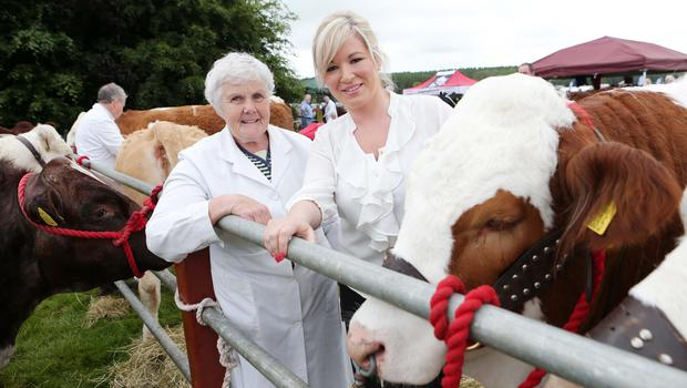 FILE PICTURE ©Press Eye Ltd Northern Ireland -  June 14 2014 Mandatory Credit -  Darren Kidd /Presseye.com  Agriculture Minister Michelle O'Neill, right,  at Armagh Show