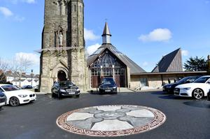 Barney Eastwood's Funeral at Colmcille's Church in Holywood, Co Down.  Friday 13th  March 2020