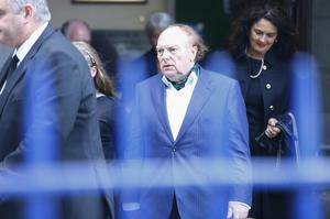 Sir Van Morrison attends his mother's funeral. Photo by Kevin Scott / Belfast Telegraph