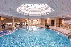 The swimming pool at the hotel renowned for discreetly hosting some of the world's biggest stars.