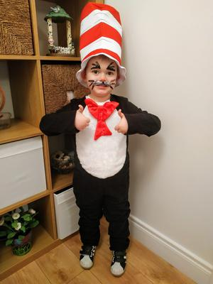 Noah Doyle, age 5 from Belfast as The Cat in the Hat