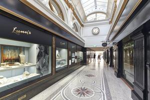 The Lunn's shop at Queen's Arcade in Belfast.