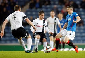Rangers' Fraser Aird on the ball during the Scottish League One match at Ibrox, Glasgow.