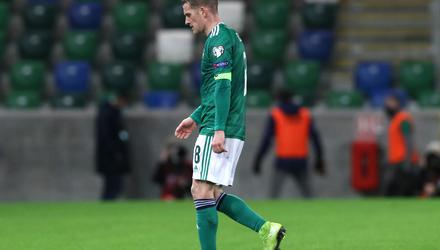 A draw with Bulgaria left captain Steven Davis dejected as Northern Ireland's World Cup hopes suffered a blow (Brian Lawless/PA)
