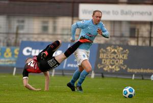 Positive impression: Recent recruit Ross Redman has settled in well at Ballymena United