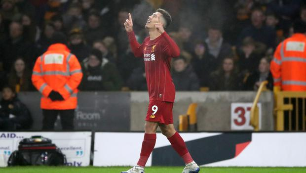 Roberto Firmino sealed Liverpool's victory with the late winner against Wolves (Nick Potts/PA)