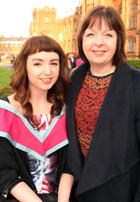 Mandatory Credit - Picture by Freddie Parkinson/Press Eye © Thursday 8th December 2016 Graduations take place at Queens University in Belfast. Laura Johnston from Donaghadee and her Mum Iris