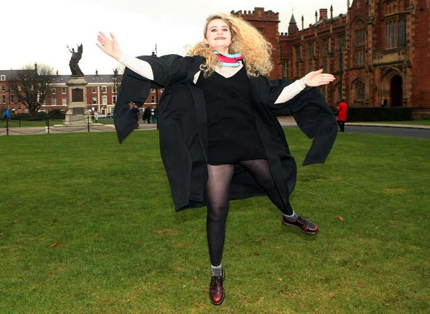 Mandatory Credit - Picture by Freddie Parkinson/Press Eye © Thursday 8th December 2016 Graduations take place at Queens University in Belfast. Laura Sheary from County Tipperary