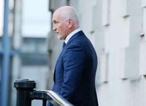 Barry McGuigan enters the High Court.  Picture by Jonathan Porter/PressEye