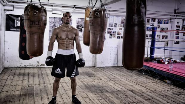 Chris Eubank Jnr poses for a portrait after a training session at the Brighton and Hove Boxing Club on November 14, 2014 in Brighton, England.  (Photo by Mike Hewitt/Getty Images)