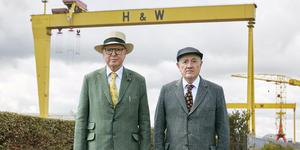 Gilbert and George Scapegoating Pictures for Belfast.