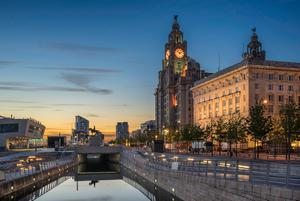 The Three Graces comprise the Liver Building, the Cunard and Port Authority