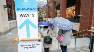 Victoria Square shopping centre in Belfast opened its doors