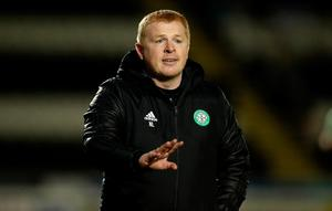 Neil Lennon's side are now three points behind Rangers with a game in hand.