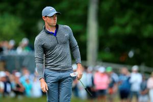 NORTON, MA - SEPTEMBER 05:  Rory McIlroy of Northern Ireland watches his shot on the 16th green during the final round of the Deutsche Bank Championship at TPC Boston on September 5, 2016 in Norton, Massachusetts.  (Photo by Maddie Meyer/Getty Images)