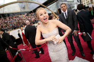 HOLLYWOOD, CA - MARCH 02:  Actress Kristen Bell attends the Oscars held at Hollywood & Highland Center on March 2, 2014 in Hollywood, California.  (Photo by Christopher Polk/Getty Images)