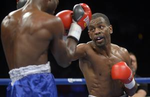 Jamel Herring (right) has had a dramatic journey to the world title and is expected to be Carl Frampton's next opponent.