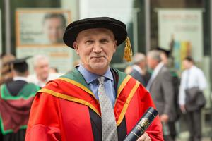 Reverend Bill Shaw received the honorary degree of Doctor of Laws (LLD) for distinguished services to the community. (Photo: Nigel McDowell/Ulster University)