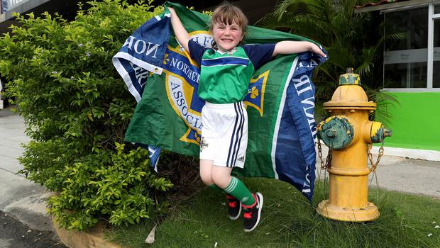 Press Eye - Belfast -  Northern Ireland - 29th May 2018 - Photo by William Cherry/Presseye  Northern Ireland fan Megan Lewis ahead of Tuesday evenings International Friendly against Panama at the Estadio Rommel Fernandez, Panama City.