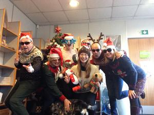 Christmas Jumper day in Northern Ireland for Save the Children pic Save the Children