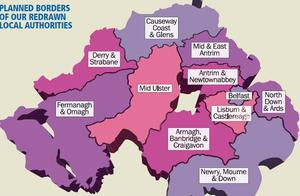 Proposed changes to Northern Ireland council boundaries
