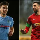 Adam Lecky and Joe Gormley are both on Glentoran's wish-list.