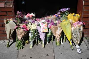 LONDON, ENGLAND - JUNE 19:  Flowers are left outside Finsbury Park mosque near the scene of a terror attack in Finsbury Park in the early hours of this morning, on June 19, 2017 in London, England. Worshippers were struck by a hired van as they were leaving Finsbury Park mosque in North London after Ramadan prayers. One person was killed in the terror attack with a further 10 people injured.  (Photo by Carl Court/Getty Images)