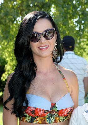 THERMAL, CA - APRIL 13:  Singer Katy Perry attends LACOSTE L!VE Desert Pool Party In Celebration Of Coachella on April 13, 2013 in Thermal, California.  (Photo by Jonathan Leibson/Getty Images for LACOSTE)