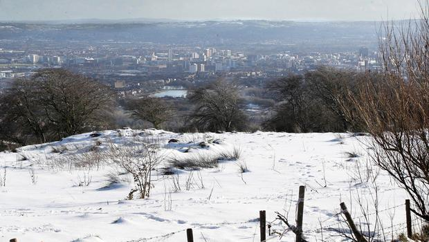 Press Eye - Weather Picture - Cave Hill Belfast - 12th February 2020 Photograph by Declan Roughan
